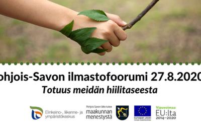 Pohjois-Savon ilmastofoorumi 27.8.2020 klo 13.00–15.00