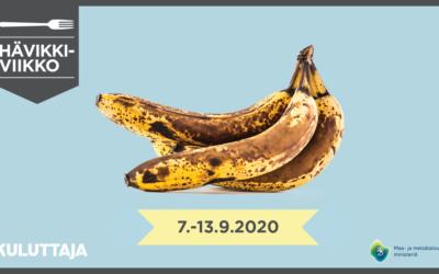 Yhdessä ruokahävikkiä vastaan – Hävikkiviikko 7.–13.9.2020