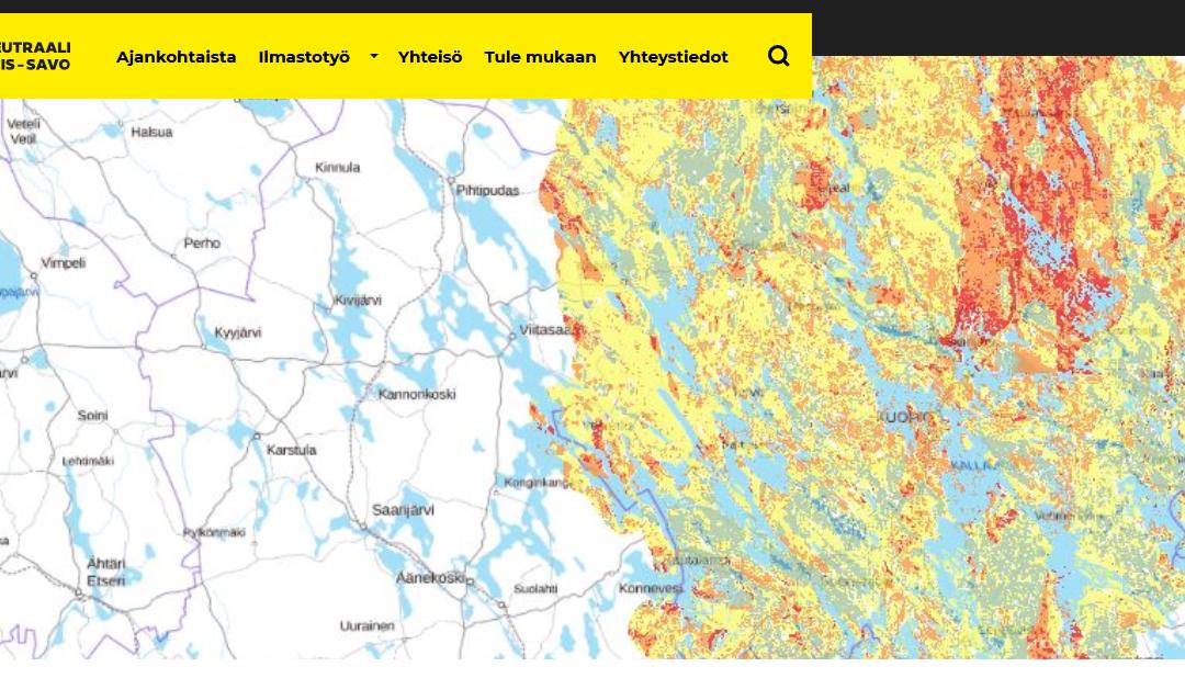 Pohjois-Savon geoenergiapotentiaali kartalla