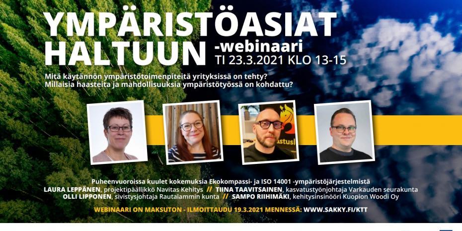 Ympäristöasiat haltuun -webinaari 23.3.2021